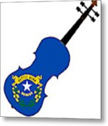 Nevada State Fiddle Metal Print