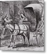 New Country Doctor Arriving In Town Metal Print