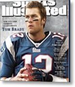 New England Patriots Qb Tom Brady, 2005 Sportsman Of The Sports Illustrated Cover Metal Print