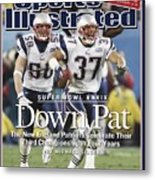 New England Patriots Rodney Harrison And Mike Vrabel, Super Sports Illustrated Cover Metal Print