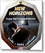 New Horizons Extended Mission Logo Metal Print