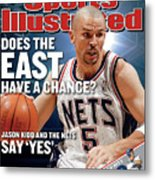 New Jersey Nets Jason Kidd, 2003 Nba Eastern Conference Sports Illustrated Cover Metal Print