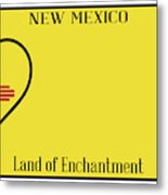 New Mexico State License Plateai Metal Print