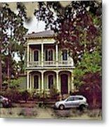 New Orleans Home In Watercolor Metal Print