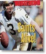New Orleans Saints Qb Bobby Hebert... Sports Illustrated Cover Metal Print