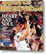 New Orleans Saints Qb Drew Brees, Super Bowl Xliv Sports Illustrated Cover Metal Print