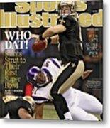 New Orleans Saints Vs Minnesota Vikings, 2010 Nfc Sports Illustrated Cover Metal Print
