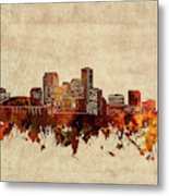 New Orleans Skyline Sepia Metal Print