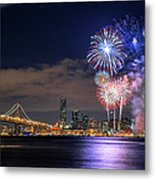 New Year Fireworks Metal Print