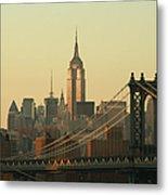 New York City Cityscape Sunrise Metal Print