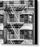 New York City Fire Escapes Metal Print