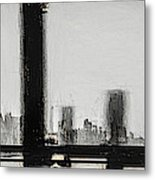 New York City From The Bridge #nyc #cityscape Metal Print