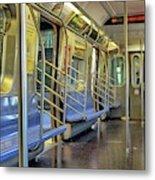 New York City Empty Subway Car Metal Print