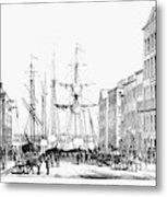 New York Docks, 1856 Metal Print