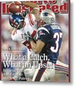 New York Giants David Tyree, Super Bowl Xlii Sports Illustrated Cover Metal Print