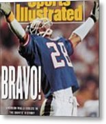 New York Giants Everson Walls, Super Bowl Xxv Sports Illustrated Cover Metal Print