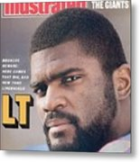 New York Giants Lawrence Taylor Sports Illustrated Cover Metal Print