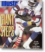 New York Giants Ottis Anderson, 1991 Nfc Championship Sports Illustrated Cover Metal Print
