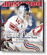 New York Giants Qb Eli Manning, 2008 Nfc Championship Sports Illustrated Cover Metal Print