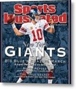 New York Giants Qb Eli Manning, Super Bowl Xlvi Champions Sports Illustrated Cover Metal Print