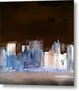New York Skyline Illustration 1 Metal Print