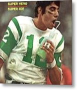 New York Jets Qb Joe Namath, Super Bowl IIi Sports Illustrated Cover Metal Print