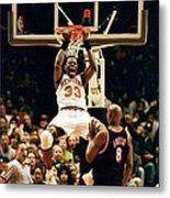 New York Knicks Patrick Ewing Does A Metal Print