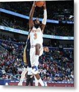 New York Knicks V New Orleans Pelicans Metal Print