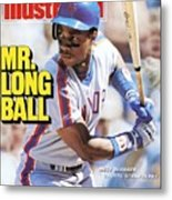 New York Mets Darryl Strawberry... Sports Illustrated Cover Metal Print