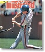 New York Mets Gregg Jeffries... Sports Illustrated Cover Metal Print