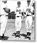New York Mets Manager Wes Westrum Metal Print