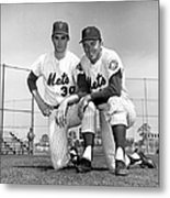 New York Mets Texas Battery Nolan Ryan Metal Print