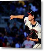 New York Mets V Atlanta Braves - Game Metal Print