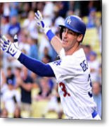 New York Mets V Los Angeles Dodgers Metal Print