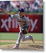 New York Mets V Philadelphia Phillies Metal Print
