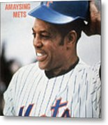 New York Mets Willie Mays Sports Illustrated Cover Metal Print