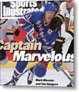 New York Rangers Mark Messier, 1994 Nhl Stanley Cup Finals Sports Illustrated Cover Metal Print