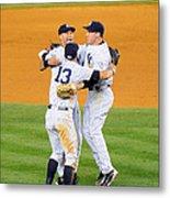 New York Yankees Alex Rodriguez, Derek Metal Print