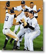 New York Yankees Celebrate 27th World Metal Print