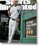 New York Yankees Derek Jeter, 2009 Sportsman Of The Year Sports Illustrated Cover Metal Print