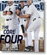 New York Yankees Derek Jeter, Jorge Posada, Mariano Rivera Sports Illustrated Cover Metal Print