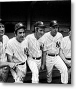 New York Yankees Hall Of Famers At Old Metal Print