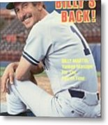 New York Yankees Manager Billy Martin Sports Illustrated Cover Metal Print