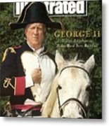 New York Yankees Owner George Steinbrenner Sports Illustrated Cover Metal Print