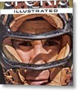 New York Yankees Yogi Berra Sports Illustrated Cover Metal Print