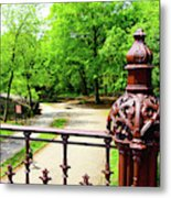 New York's Central Park Winterdale Arch Railing Cast Iron Art Metal Print