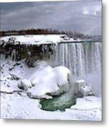 Niagara Falls Late Winter Metal Print
