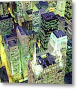 Night, Chicago, Illinois, Usa Metal Print