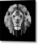 Night Lion Metal Print