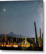 Night On Santiam Pass Metal Print